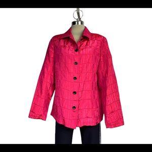 Tan jay, Fuchsia Colour, Silk Material Size M/L